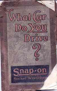 1923 What Car Do You Drive Book